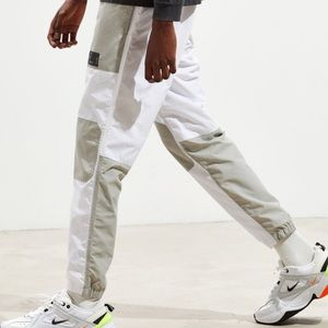 Urban Outfitters White Jogger Windpant Color Block